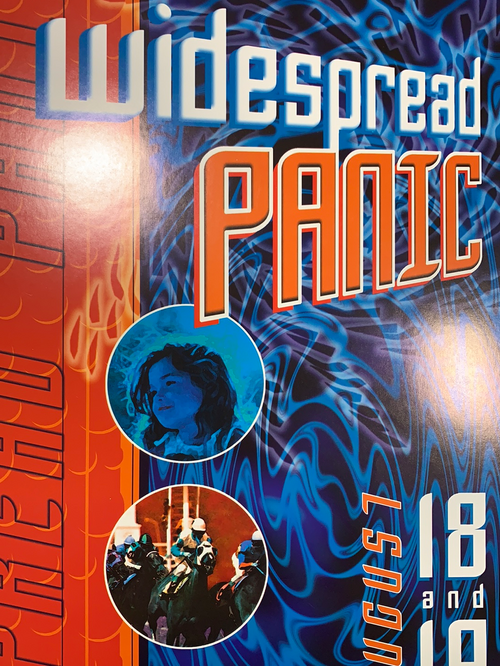 Widespread Panic - 2001 Jason Clements poster Larkspur, CO Field of Dreams