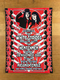 The White Stripes - 2003 Dennis Loren poster Detroit, MI Masonic Temple