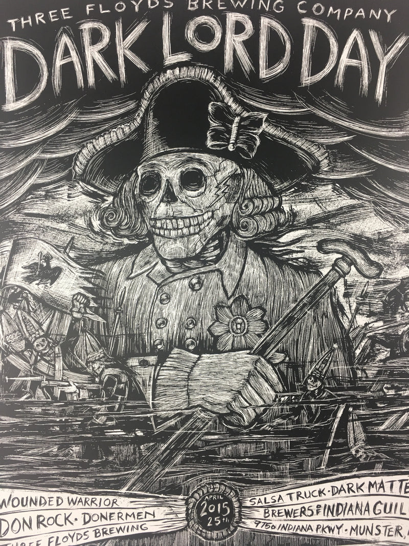 Dark Lord Day - 2015 Dan Grzeca Poster Munster, IN Three Floyds Brewery Variant