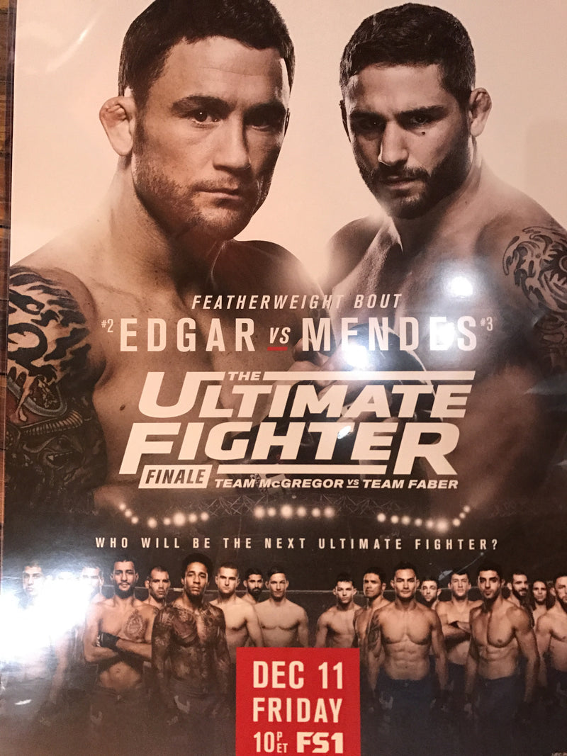 UFC poster Edgar vs. Mendes Finale Ultimate Fighter Tuf Fight Night
