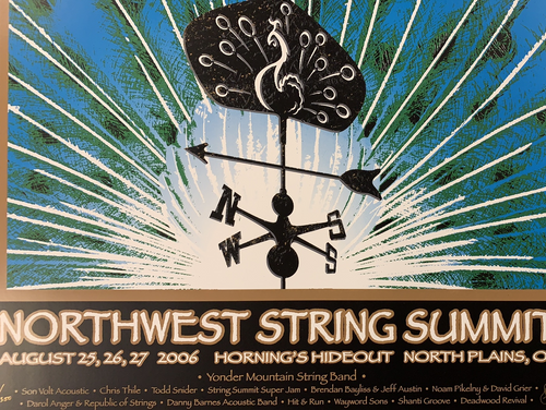 Northwest String Summit - 2006 Brian Langeliers poster Plains, OR Horning's Hideout