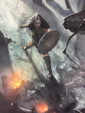 No Man's Land Wonder Woman - Robin Har Poster Art Print