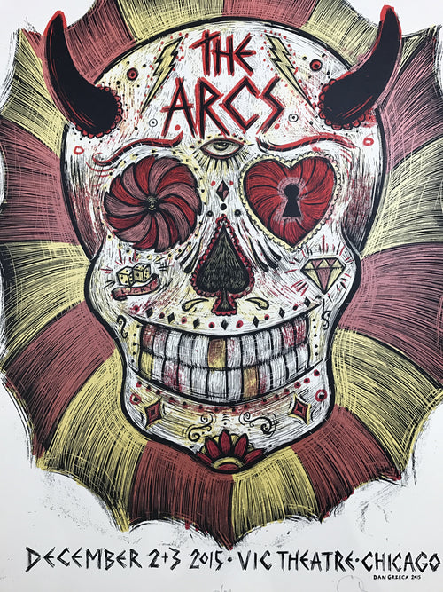 The Arcs - 2015 Dan Grzeca poster Chicago, IL Vic Theatre