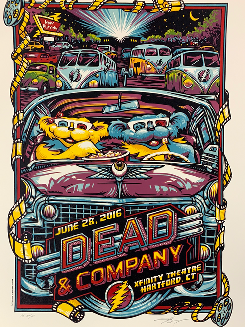 Dead & Company - 2016 AJ Masthay poster Hartford, CT Summer Tour