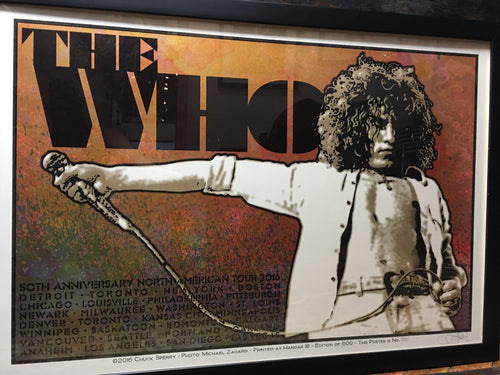 The Who - 2016 Chuck Sperry poster Roger Daltry 50th Anniversary Tour FRAMED