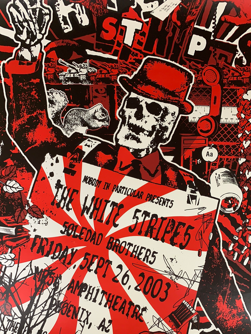 The White Stripes - 2003 Gregg Gordon poster Mesa, AZ Gigart