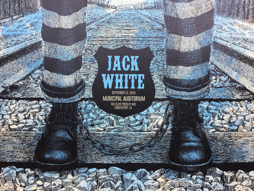 Jack White - 2018 Methane Studios poster Shreveport, LA Municipal Auditorium