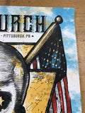 Eric Church - 2017 Zeb Love poster Pittsburgh PPG Paints Arena