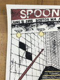 Spoon - 2015 Leslie Herman poster Boston, MA House of Blues