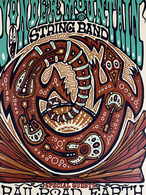 Yonder Mountain String Band - 2011 Jeff Wood poster Red Rocks Morrison, CO