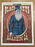 The Black Keys - 2012 Zoltron poster Anaheim, CA Honda Center