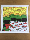 Greetings Jerklings - 2014 Jerkface poster Cartoon Villain New York art