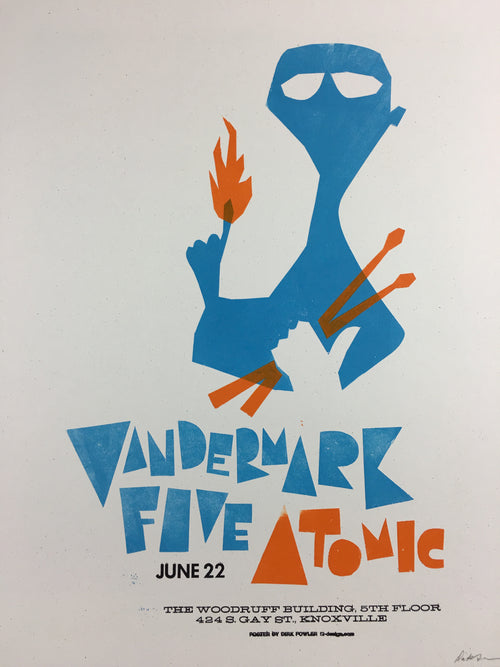 Vandermark 5 - 2004 Dirk Fowler Poster Knoxville, TN The Woodruff Building