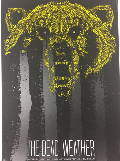 The Dead Weather - 2009 Todd Slater Poster Austin City Limits, TX Zilker Park