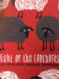 Flight of the Conchords - 2009 Todd Slater Poster Minneapolis, MN Northrup Audit