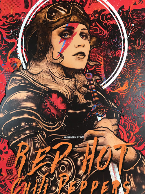 Red Hot Chili Peppers - 2017 Nikita Kaun poster Louisville, KY KFC Yum! Center