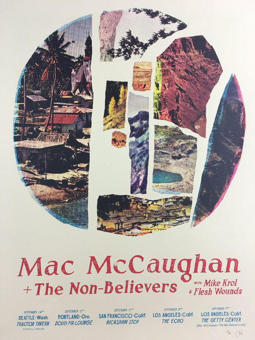 Mac McCaughen - 2015 Landland Poster West Coast Tour