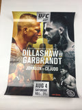 UFC 227 - 2018 Poster Dillashaw vs Garbrandt; Johnson vs. Cejudo