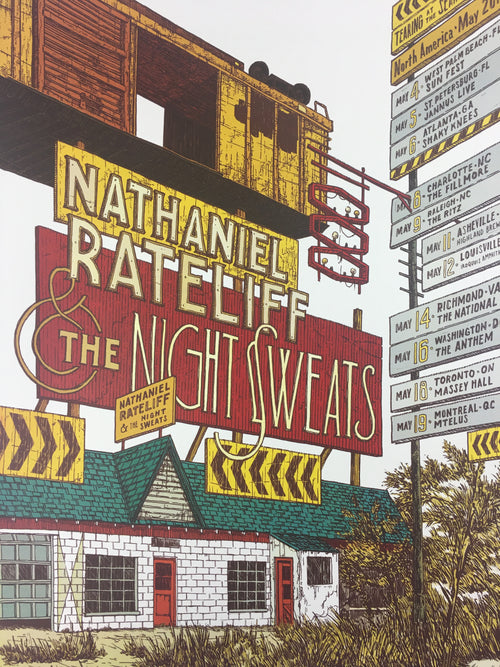 Nathaniel Rateliff & the Night Sweats - 2018 Landland Poster North America Tour