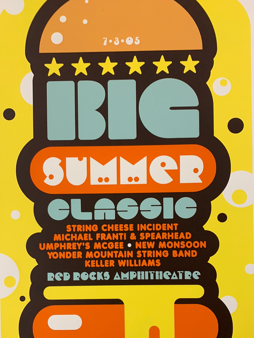 Big Summer Classic (2) - 2005 Ames Brothers poster Morrison, CO Red Rocks