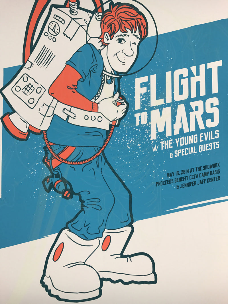 Flight to Mars - 2014 Dumbgun poster Seattle, WA Showbox