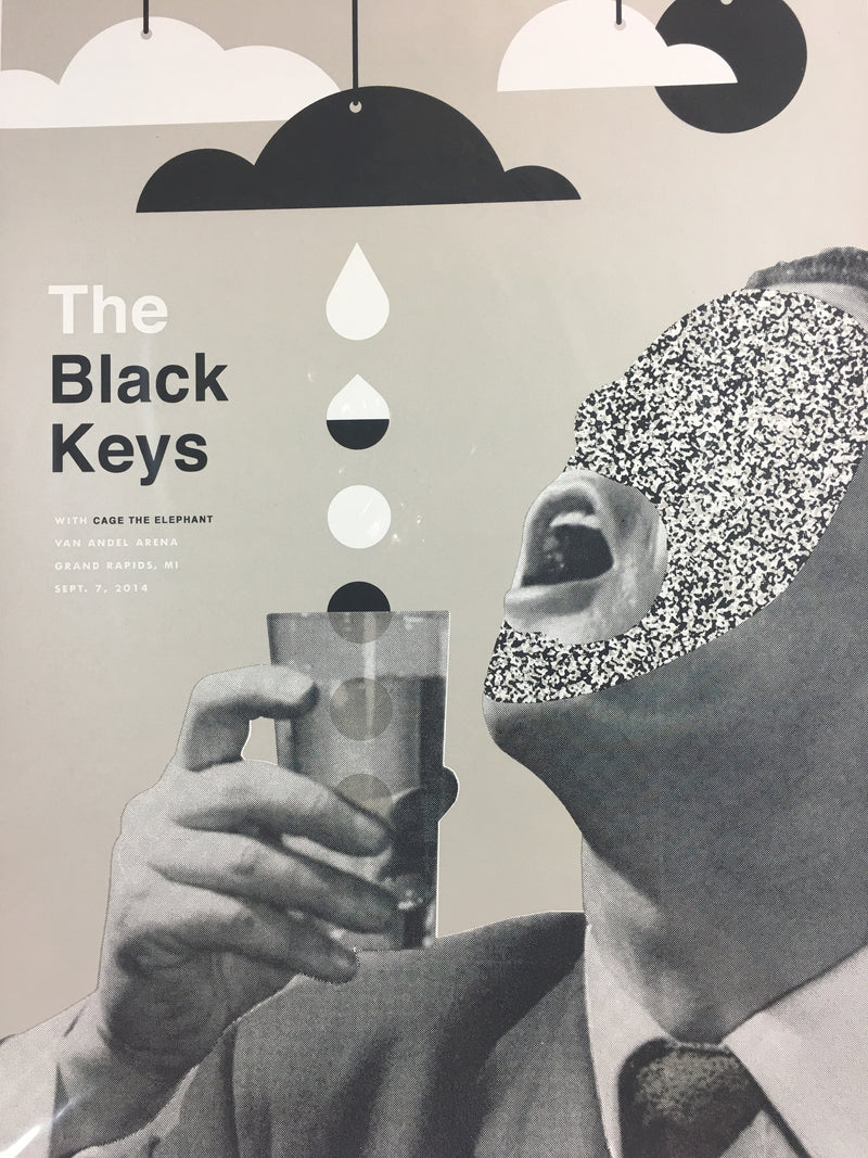 The Black Keys - 2014 John Knoerl poster Grand Rapids, MI Van Andel Arena
