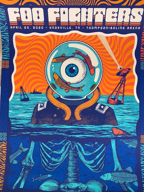 Foo Fighters - 2020 Status Serigraph poster Knoxville TN