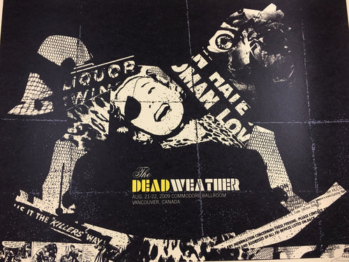 The Dead Weather - 2009 Methane Studios Poster Vancouver Commodore Ballroom