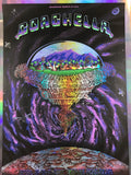 Coachella - 2011 EMEK poster Purple Mirror FOIL variant edition 3/5 signed
