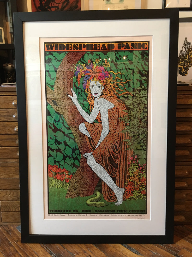 Widespread Panic - 2016 Chuck Sperry poster Savannah Rose Shimmer #1 FRAMED