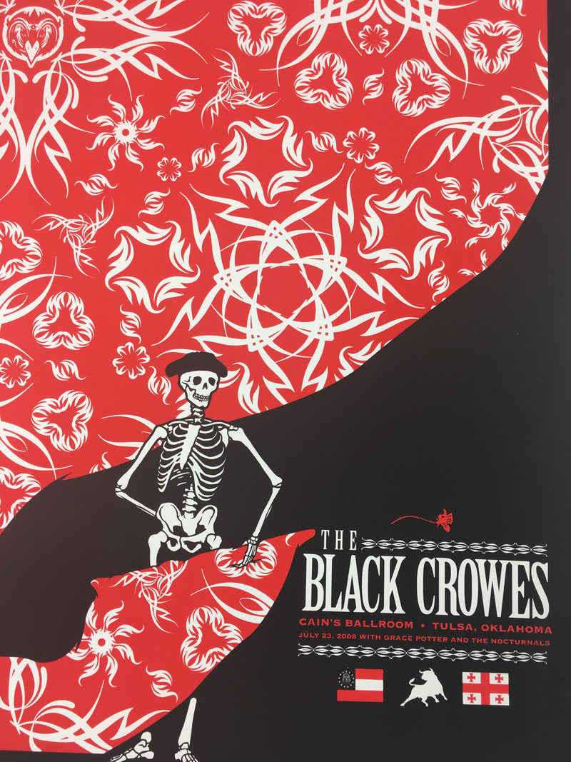 The Black Crowes - 2008 Todd Slater Poster Tulsa, OK Cain's Ballroom