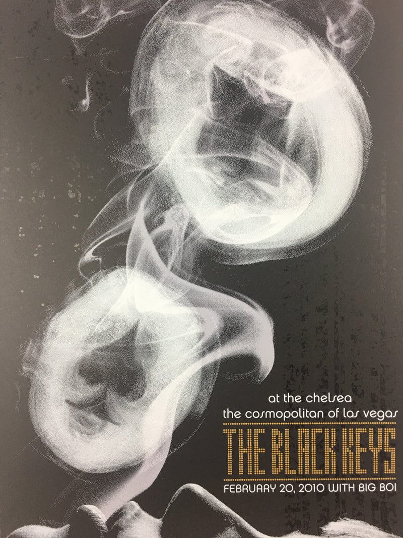 The Black Keys - 2011 Todd Slater Poster Las Vegas, NV The Chelsea Feb. 20th