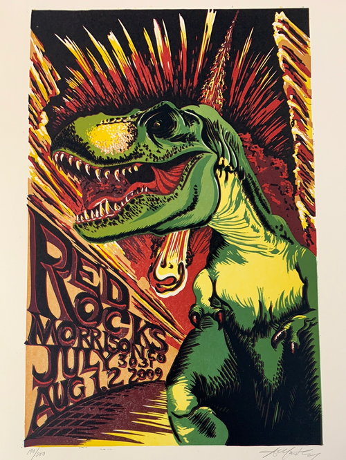 Phish - 2009 AJ Masthay poster Red Rocks Morrison, CO