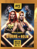 UFC 219 - Cyborg vs Holm Poster MMA Ultimate Fighting print