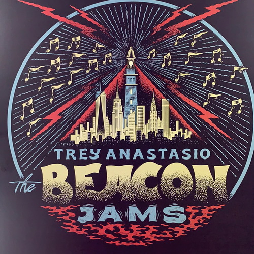 Trey Anastasio - 2020 Your Cinema poster New York, NY The Beacon Jams Crimson Red