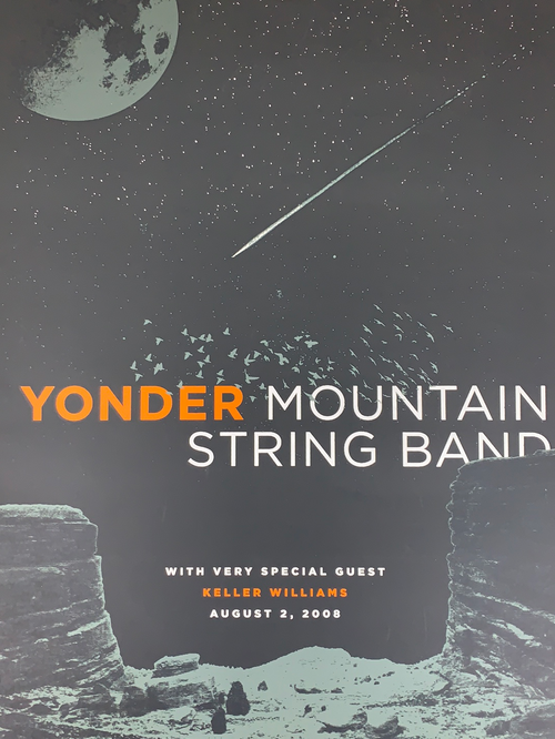 Yonder Mountain String Band - 2008 Anthem Branding poster Red Rocks Morrison, CO