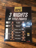UFC 200 poster Lesnar vs. Hunt, Aldo, Edgar, Jones, Tate, Nunes Cormier