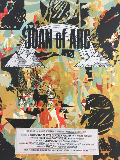 Joan of Arc - 2015 Landland Poster Chicago, IL The Hideout