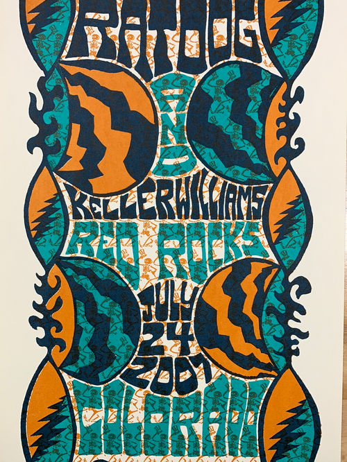 Ratdog Keller Williams - 2007 Tripp poster Morrison, CO Red Rocks