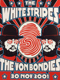 The White Stripes The Von Bondies - 2001 Dennis Loren Poster Toulouse Le LR
