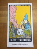 The Party of Helicopters - Mike Budai poster Cleveland, OH Happy Dog