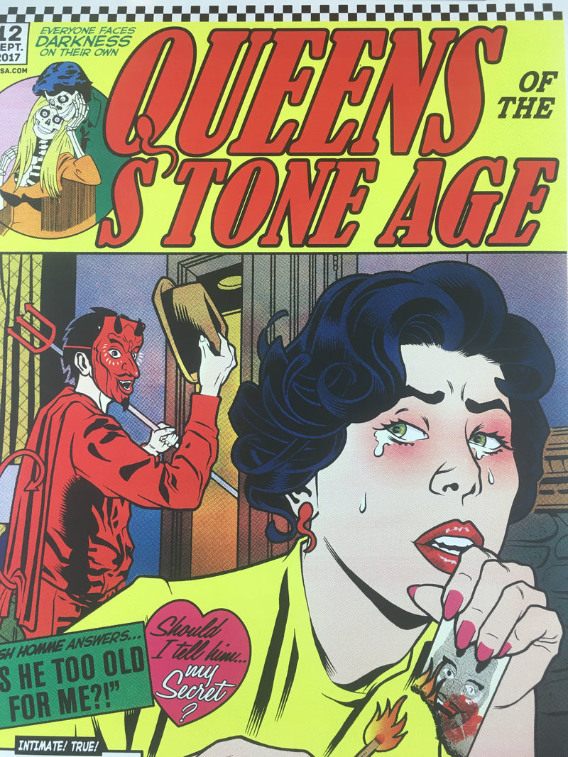 Queens of the Stone Age - 2017 Brian Ewing Poster Columbus, OH Express Live