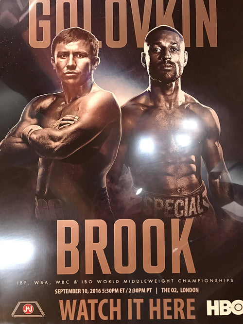 Boxing poster GGG Golovkin vs. Brook 2016 London