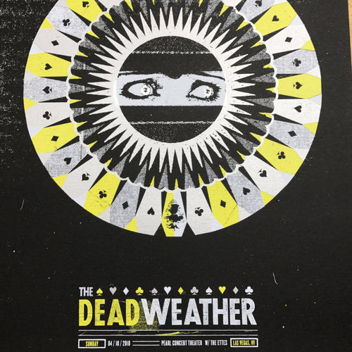 The Dead Weather - 2010 The Silent Giants poster Las Vegas, NV