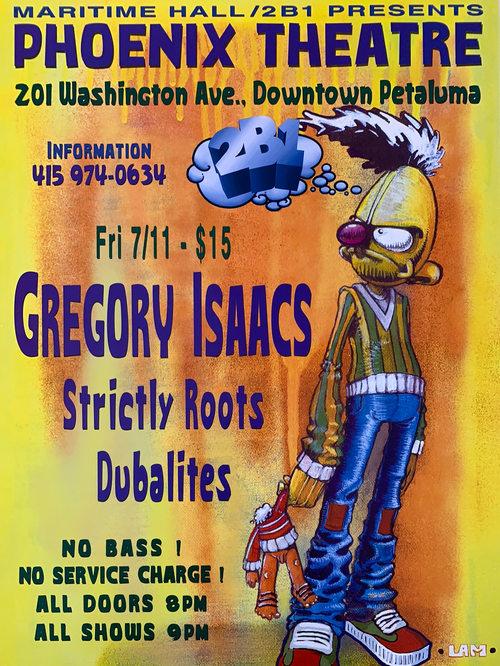 Maritime Hall - 1997 poster Gregory Isaacs, Strictly Roots San Fran 1st