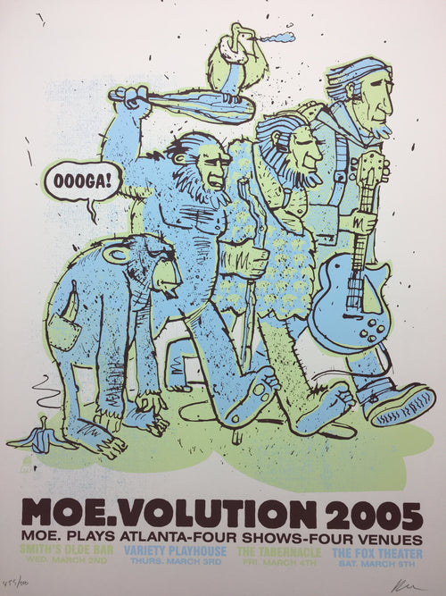 moe. - 2005 Methane Studios poster Atlanta, GA volution