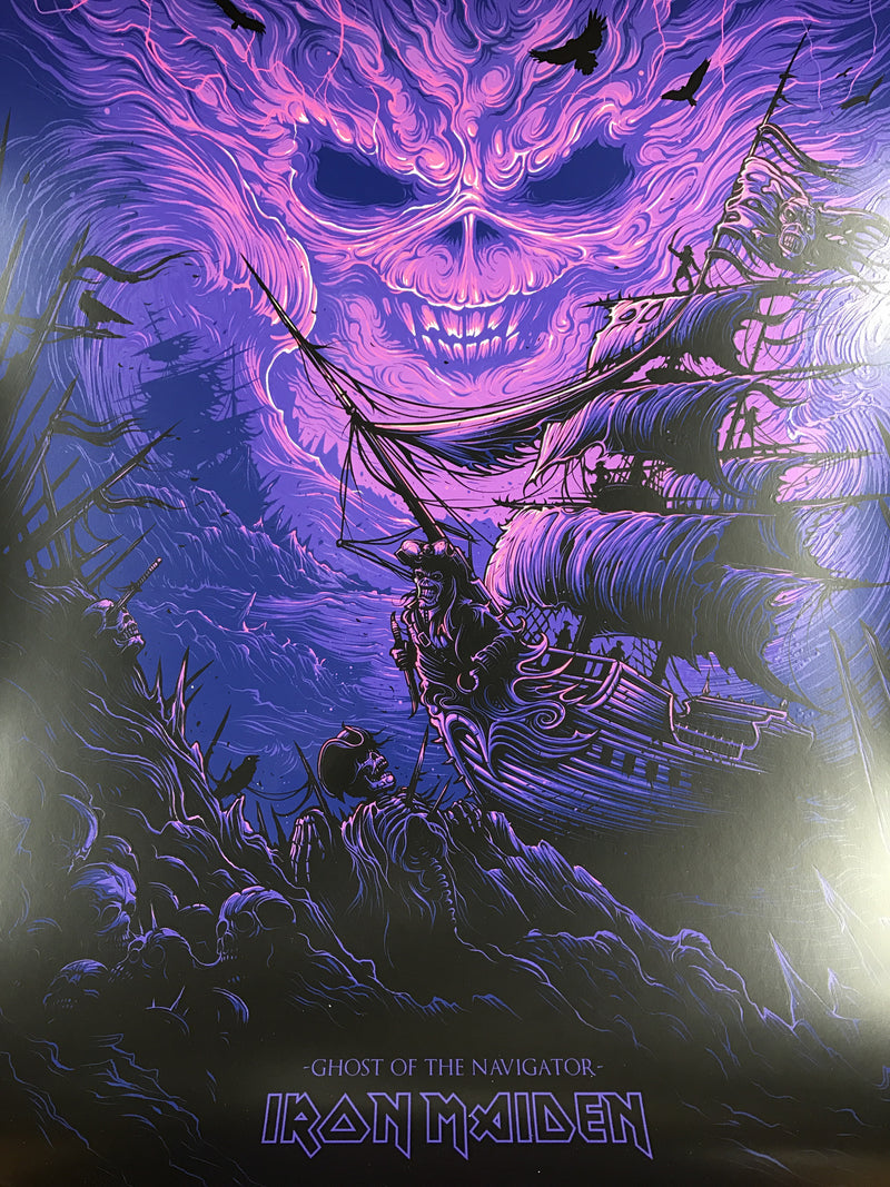 Iron Maiden - 2017 Dan Mumford poster Ghost of the Navigator