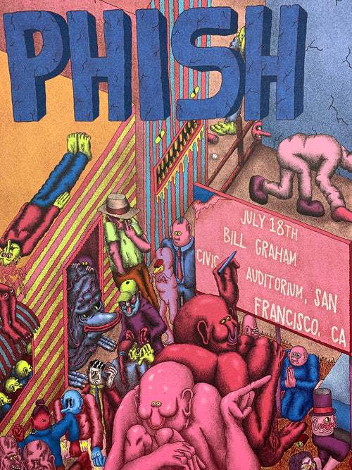 Phish - 2016 Alex Jenkins poster San Francicso, CA Bill Graham Civic