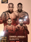 UFC 206 poster Cormier vs. Johnson 2, Holloway vs. Pettis