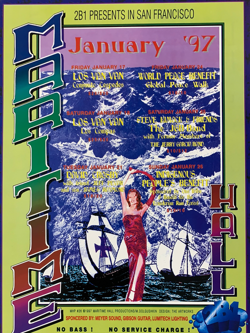 David Crosby - 1997 Mike Dolgushkin poster Maritime Hall San Fran 1st